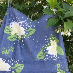 Banana Republic Denim Blue Floral Dress Size 6
